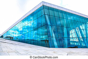 Oslo opera house, Norway - OSLO, NORWAY - AUGUST 5: Modern...