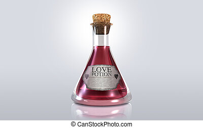 Love Potion - A regular old goblet glass bottle filled with...