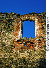 Window in history - Late Gothic framing of the North Palace...