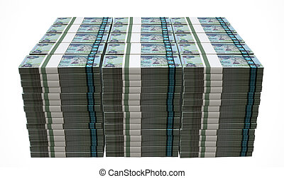 Pile Dirham Bank Notes - A pile of wads of dirham banknotes...