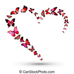 Heart with butterflies