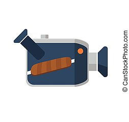 Video camera flat icon, vector icon - Video camera flat...