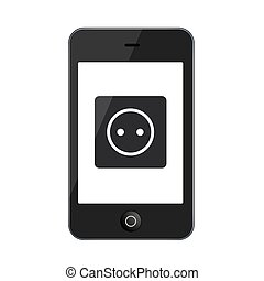 Vector modern smartphone isolated on white