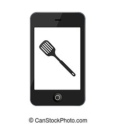 Vector modern smartphone isolated on white background...