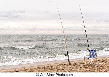 Surf Fishing - Surf fishing on Hatteras Island, NC.