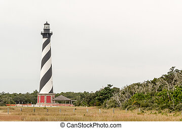 Cape Hatteras Light - cape Hatteras Lighthouse on Hatteras...