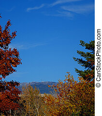 Boise Mountains in Autumn - The Boise Mountains are framed...