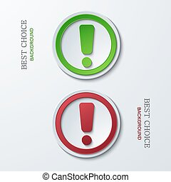 Vector modern circle icons on sample background. 2 variants....