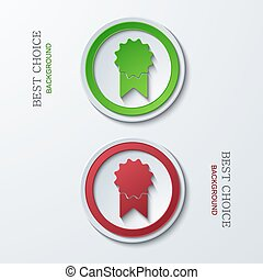 Vector modern circle icons on sample background 2 variants...