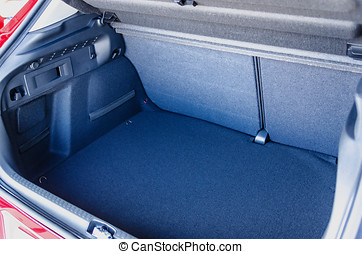 Empty car trunk with a lot of space for luggage and goods