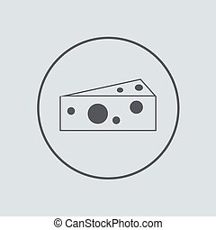 Vector circle icon on gray background Eps 10