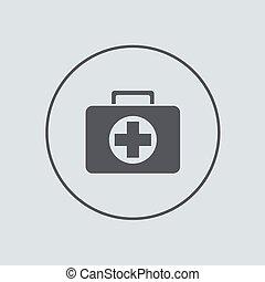 vector, círculo, icono, en, gris, fondo., EPS, 10,