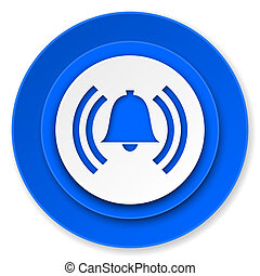 alarm icon, alert sign, bell symbol