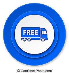 free delivery icon, transport sign