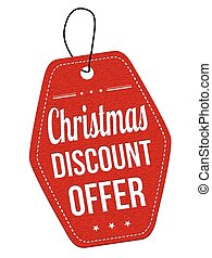 Christmas discount offer label or price tag - Christmas...