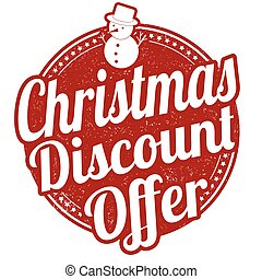 Christmas discount offer stamp - Christmas discount offer...