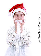 Child in christmas
