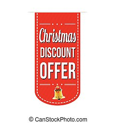 Christmas discount offer banner design over a white...