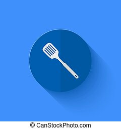 vettore, moderno, appartamento, blu, cerchio, icon.,