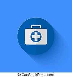 vector, moderno, plano, azul, círculo, icon.,