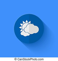 Vector modern flat blue circle icon Eps10