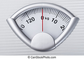 Weight Scale - Closeup photo of weight scale showing zero