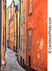 Old town in Stockholm, Sweden - STOCKHOLM, SWEDEN - AUGUST...