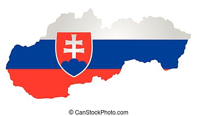 Slovakia Flag - Flag with coat of arms of the Slovak...