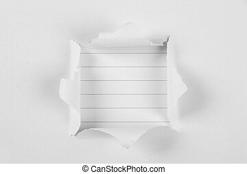 Note Paper Under Tear paper - Note paper background under...
