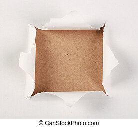Brown Paper Under Tear Paper - Brown paper background under...