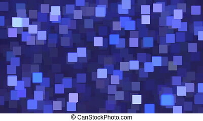 Abstract squares chaotic movement - Abstract purple and blue...