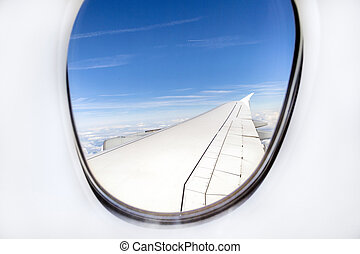 aerial out of an aircraft window