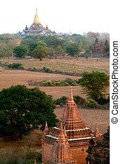 Pagodas in Bagan,Myanmar.