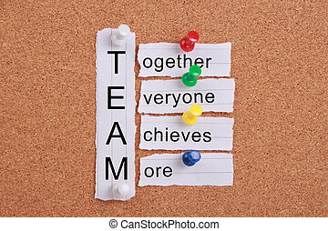 Teamwork Concept - Teamwork concept with some related words...