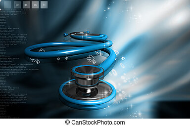 Stethoscope - Digital illustration of stethoscope in colour...