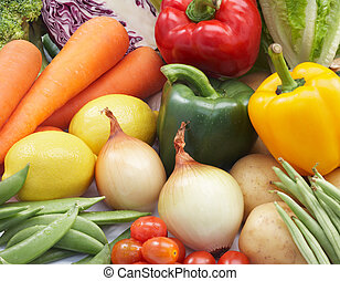fresh vegetables - different kind of fresh vegetables