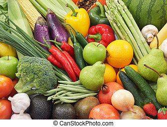 fruits and vegetables - broad variety of fresh vegetables...