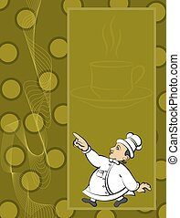 Chef Menu Card Design Template Vector Art