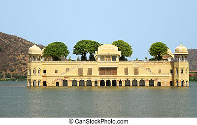 Jal Mahal - the Jal Mahal Water Palace in Jaipur Rajasthan,...
