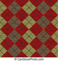 tartan knitwork pattern - seamless texture of knitted wool...
