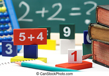 arithmetic - numbers,abacus and books- mathematical...
