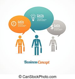 Business group of people with speech bubbles