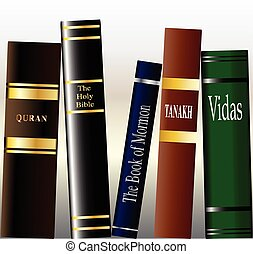 Religious Books - A collection of religious books on a...
