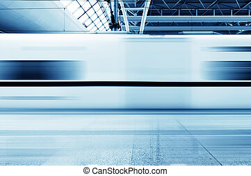 Fast trains - Fast train with motion blur
