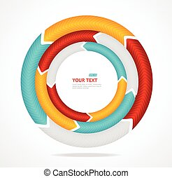 Abstract arrow banner for text Circle diagram Vector