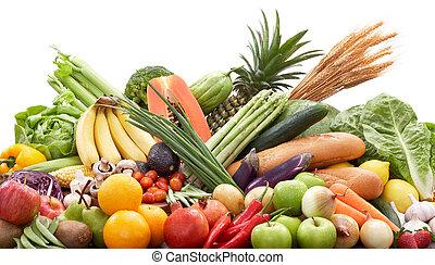 fresco, frutas, legumes