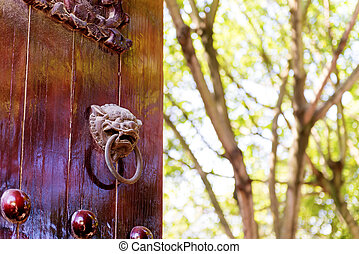 Chinese classical temple gates - Chinese classical...