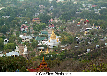 Top view of Myanma temple in Mandalay, Myanmar