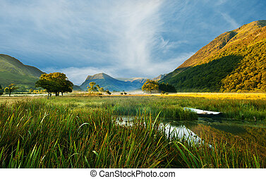 Buttermere Valley - Looking up the valley of Buttermere in...