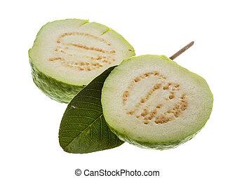 Guava - Fresh ripe green guava isolated